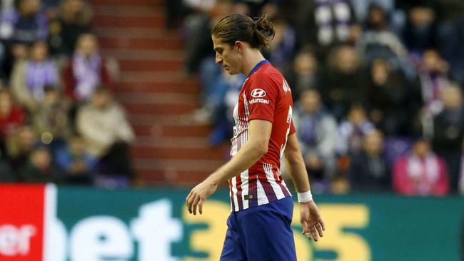 Filipe during the game against Real Valladolid.