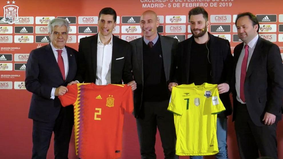 Presentación del encuentro de España y Brasil