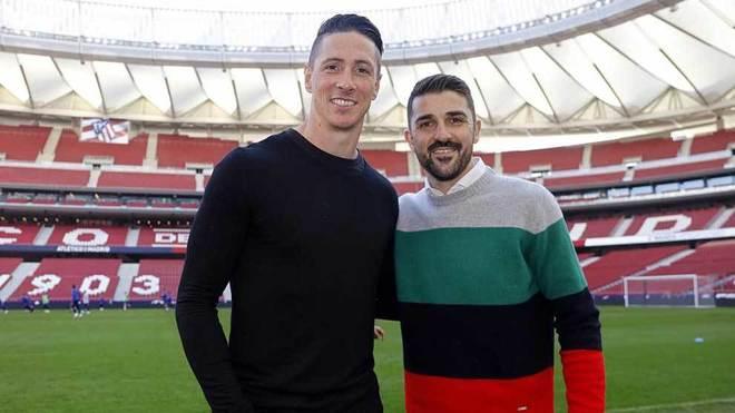 LaLiga Santander - Atletico Madrid  Torres and Villa visit Wanda ... f550e6d4a
