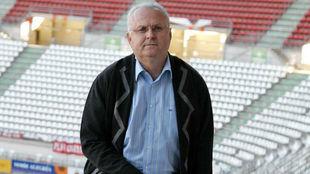 José Antonio García Franco, en el estadio Nueva Condomina.