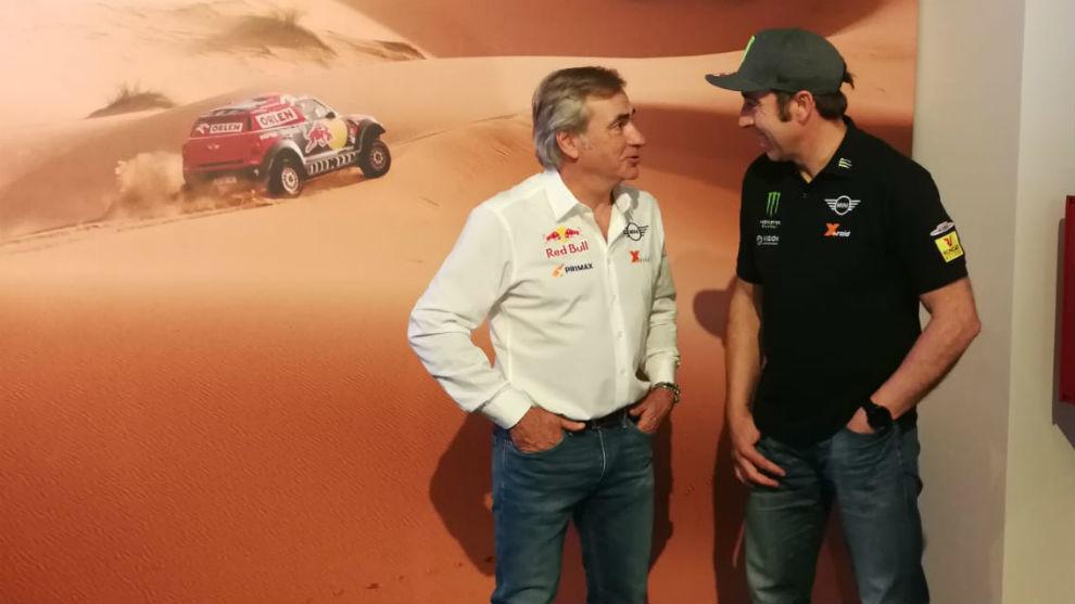 Carlos Sainz, con Nani Roma.