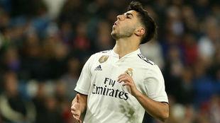 Asensio, durante un partido del Real Madrid.