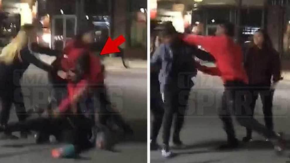 Montae Nicholson (Washington Redskins) dejando KO de un puñetazo a un...