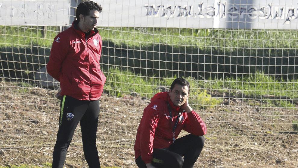 Francisco durante un entrenamiento.