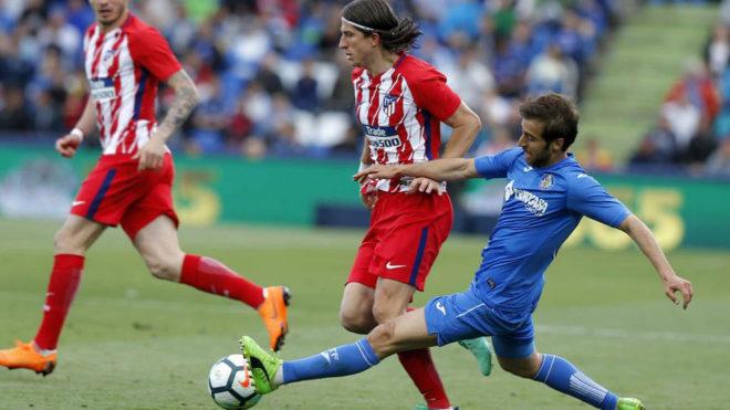 Flamini, en un partido de la pasada temporada frente al Atlético de...