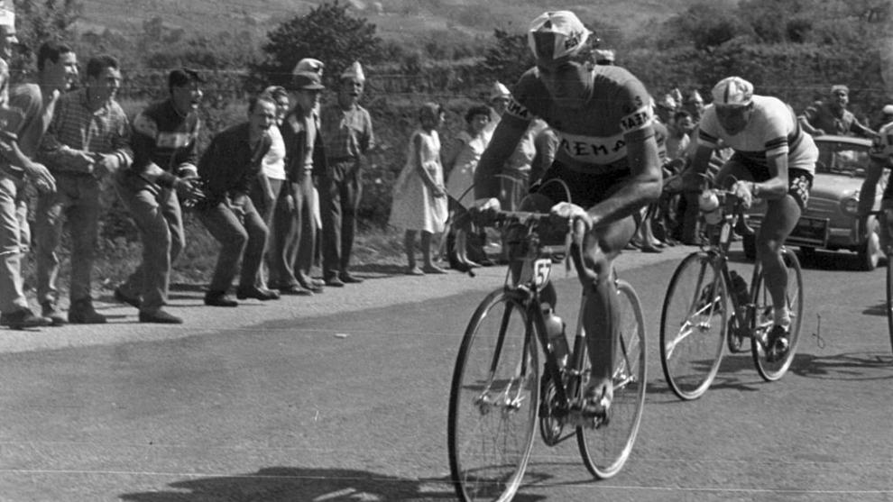 Rik van Looy, durante una etapa del Giro de Italia 1959.