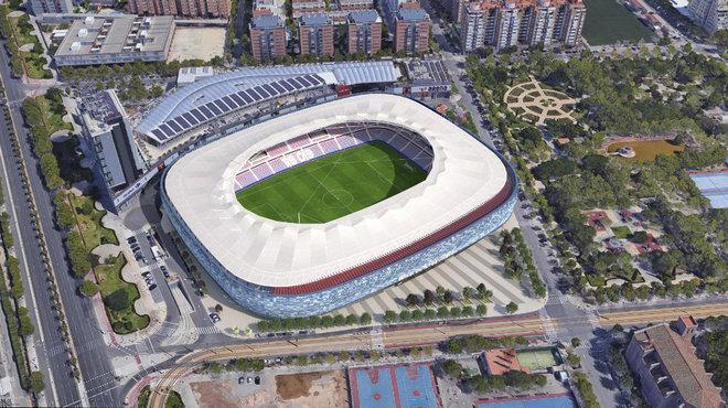Vista aérea del Ciutat de València tras la remodelación.