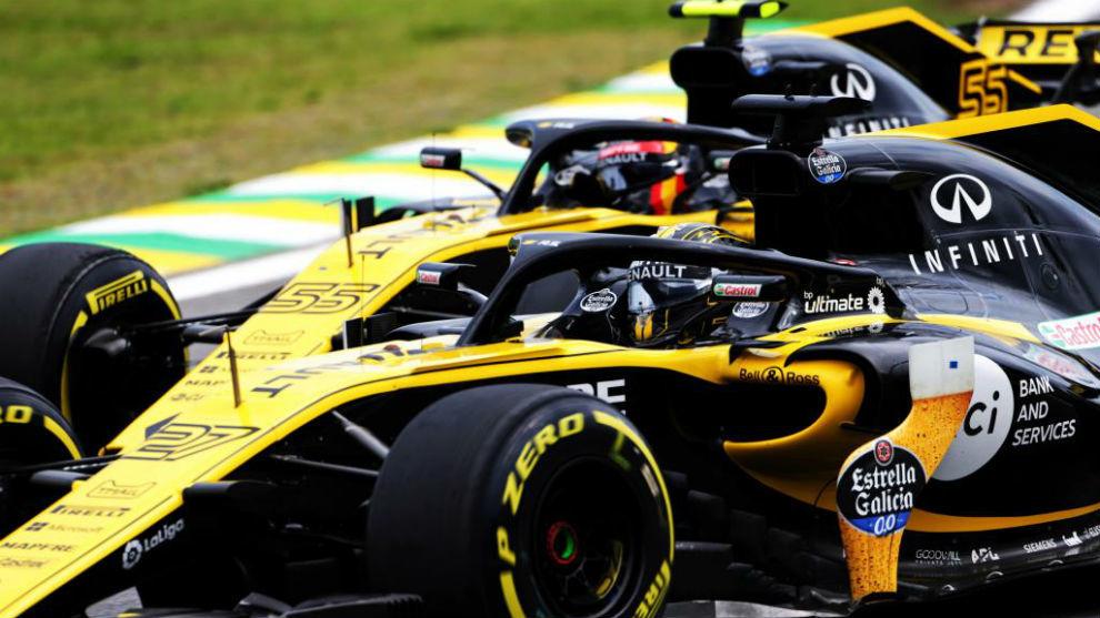 Hülkenberg y Sainz, emparejado durante el GP de Brasil 2018.