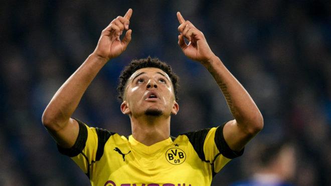 Sancho, celebrando un gol con el Borussia Dortmund.