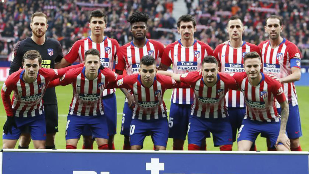 Atletico Madrid's starting XI vs Espanyol.