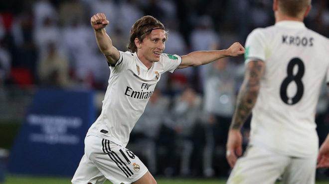 Modric celebra el 1-0 que marcó él.
