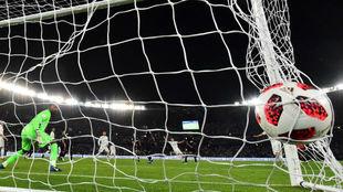 Marcos Llorente, autor del segundo gol del Real Madrid en la final.