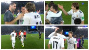 La discusión entren Luka Modric y Lucas Vázquez