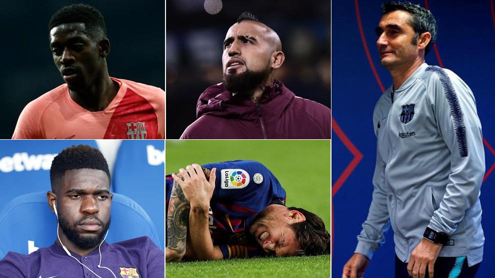 Dembélé, Arturo Vidal, Umtiti, Messi y Valverde