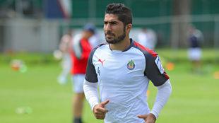 Pereira, en un entrenamiento de Chivas.