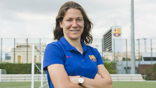 Élise Bussaglia posa el día de la presentación como jugadora del...