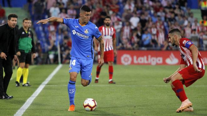 Guardiola, en un Getafe-Atlético de esta temporada.
