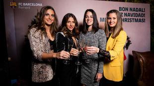 Alexia Putellas, Vicky Losada, Marta Torrejón y Sandra Paños.