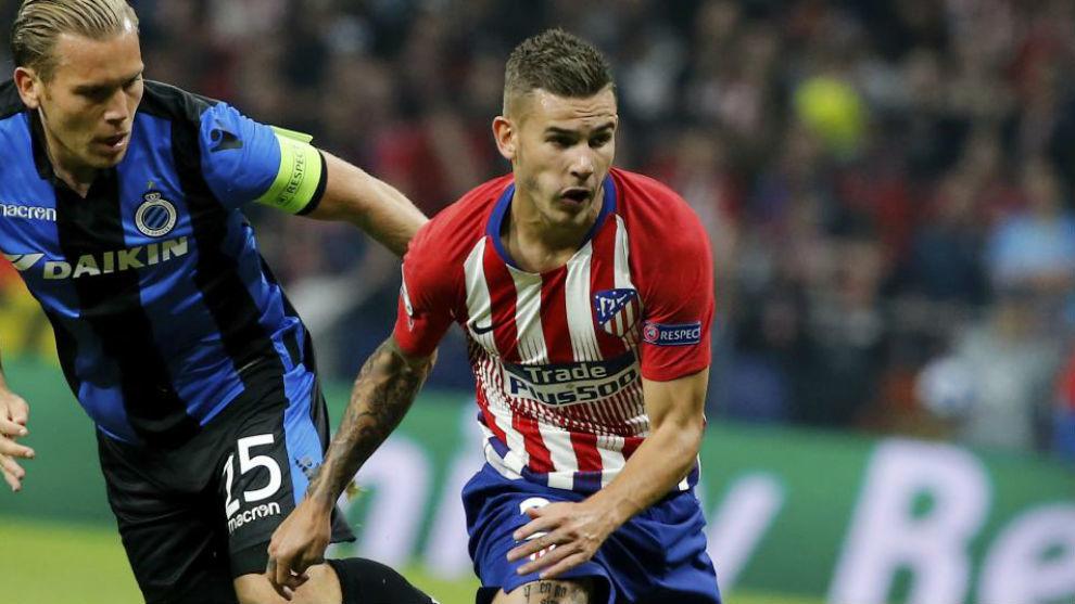 Lucas, en un partido del Atlético.