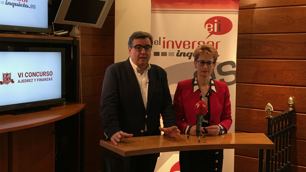 Marcelino Sión, director técnico del Magistral, y María Jesús...