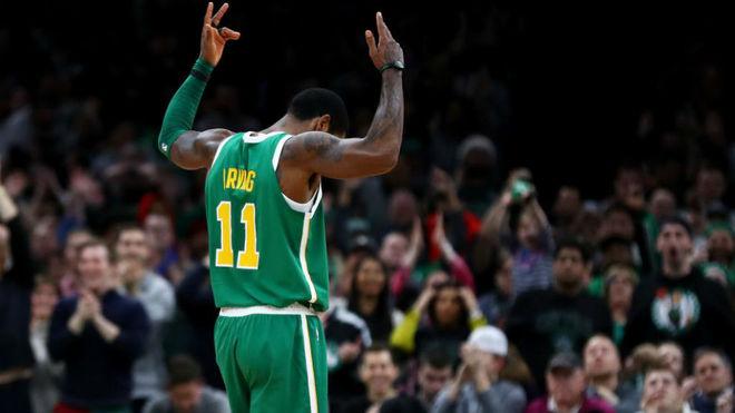 Celtics de Boston 121-114 Sixers de Filadelfia: Puntos de Irving