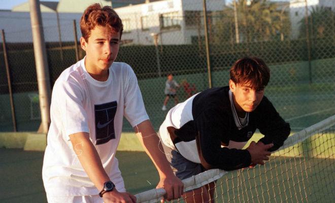Tomeu Salvà y Rafa Nadal en su etapa de júnior en Mallorca.