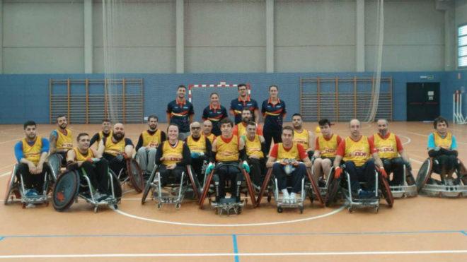 La selección española de rugby en silla, en la última...