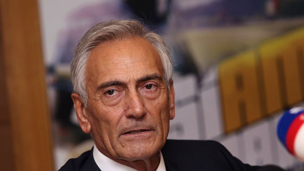 Gabriele Gravina, presidente de la Federación Italiana de Fútbol.