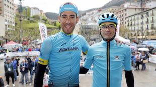 Omar Fraile (i) y Pello Bilbao en la Vuelta al País Vasco 2018.