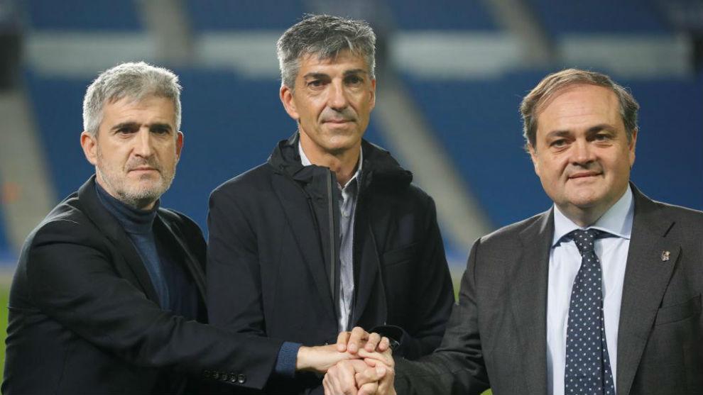 Roberto Olabe, Imanol Alguacil y Jokin Aperribay.