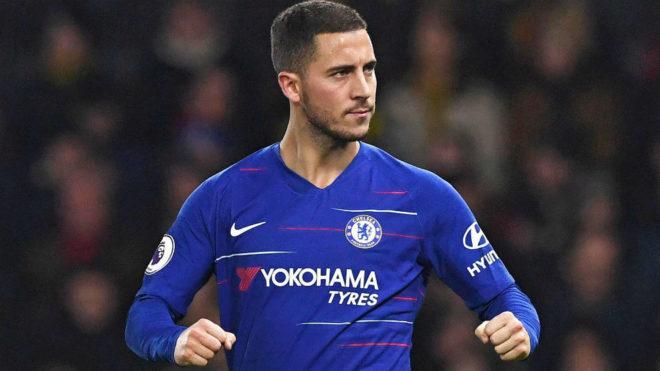 Hazard, en un partido con el Chelsea.