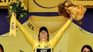Geraint Thomas, tras asegurarse el Tour en la contrarreloj de...