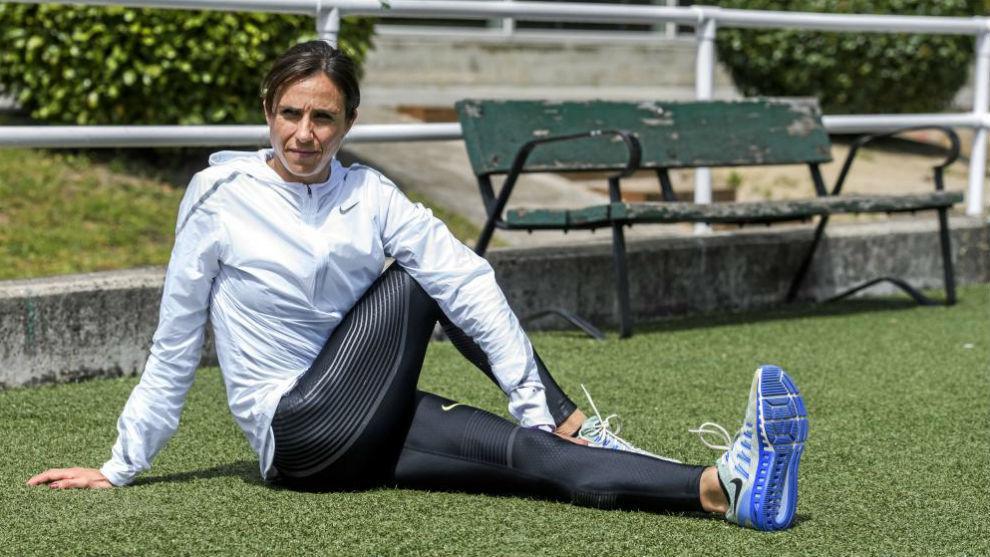 Nuria Fernández, durante un reportaje con Marca en 2016.