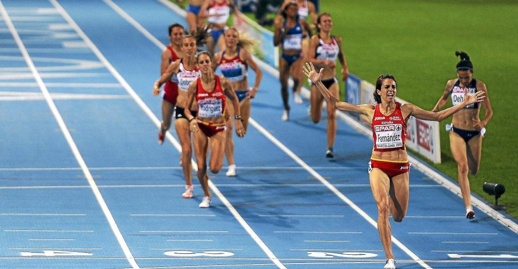 Nuria Fernández gana la final de los 1.500 metros en los Europeos de...