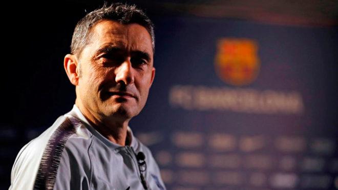 Valverde, en la entrevista que concedió a los medios del club.