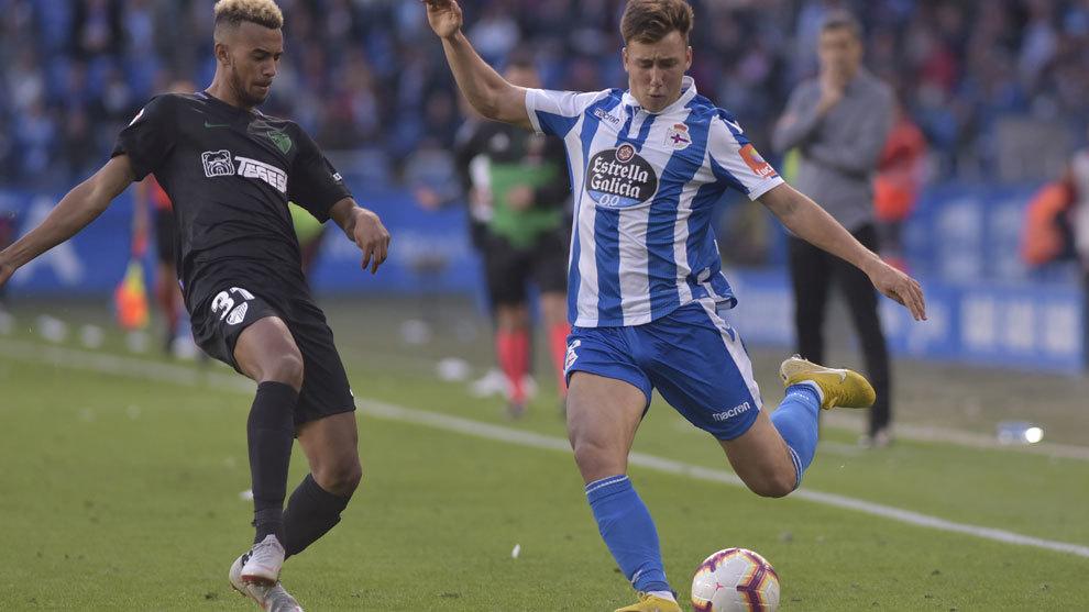 Saúl durante un partido ante el Málaga.
