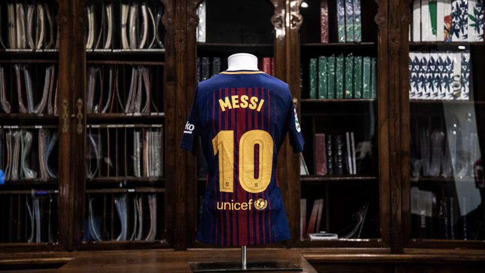 La camiseta de Messi en una exposición de Turín