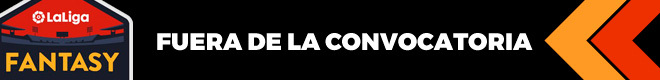 Bajas, lesionados y sancionados de LaLiga para la jornada 10 de Primera División