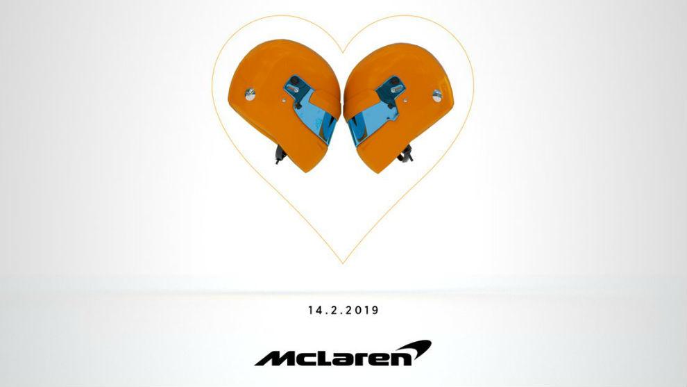 El tuit de la presentación del McLaren MCL34.