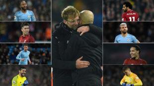 Los grandes protagonistas del City-Liverpool.