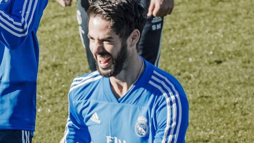 Isco durante un encon el Real Madrid
