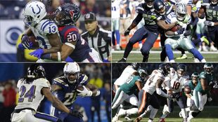 Colts-Texans, Seahawks-Cowboys, Chargers-Ravens y Eagles-Bears, los...