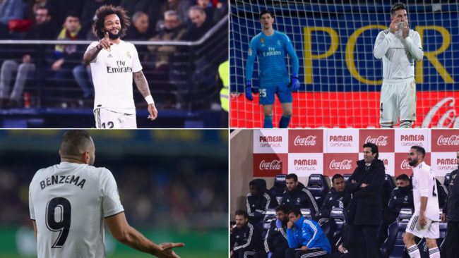 Distintas imágenes del Madrid en Villarreal