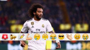 Marcelo, durante el partido contra el Villarreal