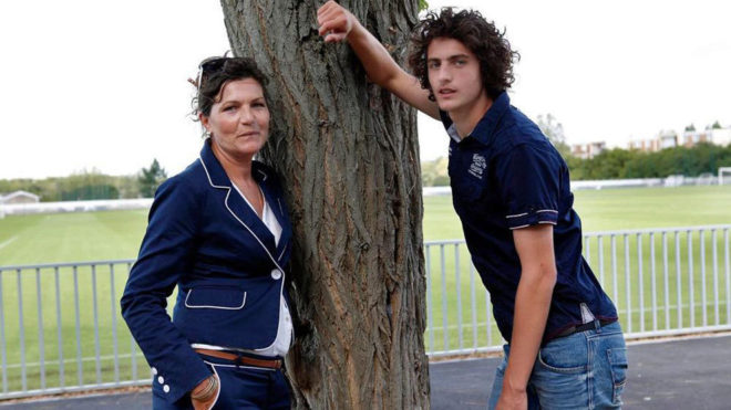 Veronique Rabiot and Adrien Rabiot