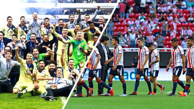 América se mantendría en la gloria, Chivas en el infierno.