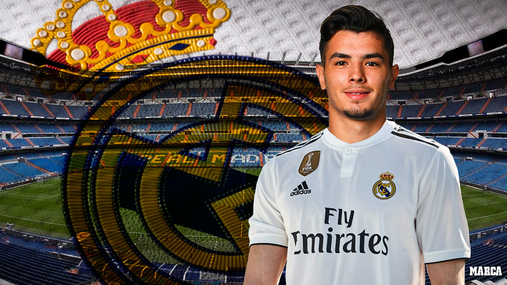 MARCA's image of Brahim in the Real Madrid shirt.