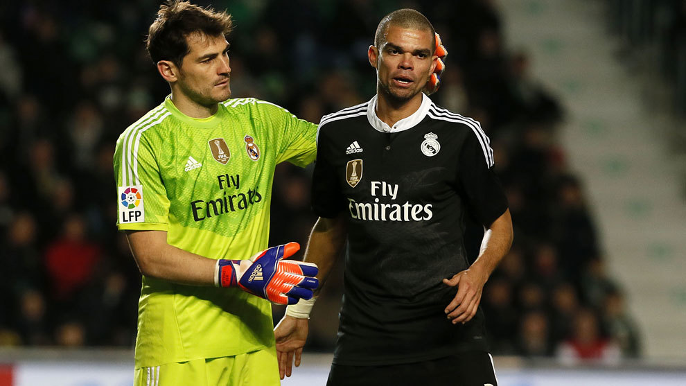 Iker Casillas and Pepe.