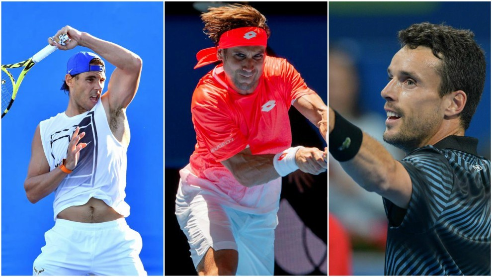 Nadal, Ferrer y Bautista