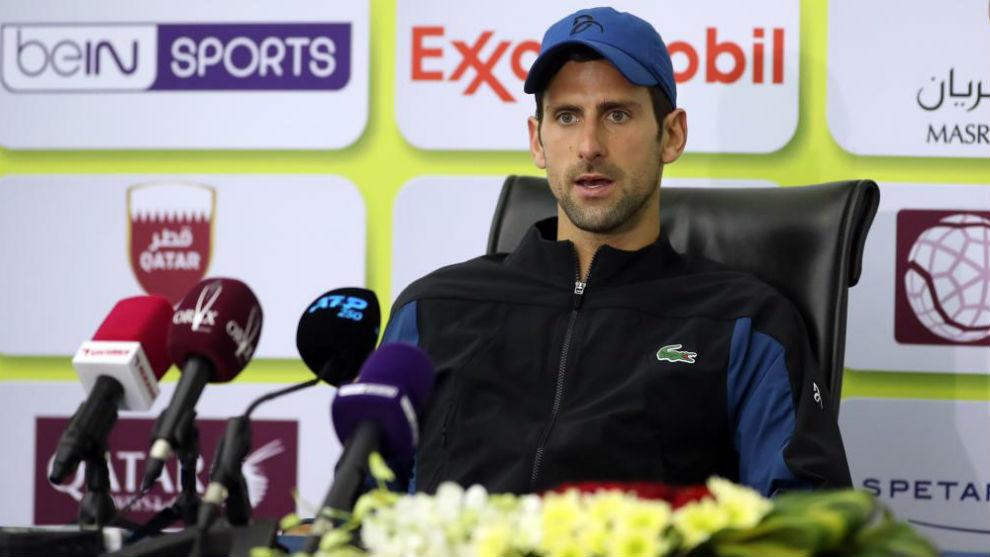 Djokovic, en rueda de prensa